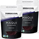 Terrasoul Superfoods Organic Maqui Berry Powder, 8 Oz (2 Pack) - Freeze-Dried | Antioxidants
