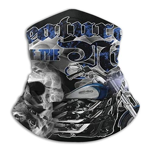 Custom made Harley Davidson - Polaina para el cuello multifuncional de microfibra, a prueba de polvo, pasamontañas, bandanas, calentador de cuello bufanda para deportes al aire libre en clima frío