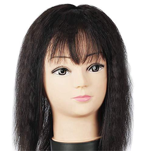 ZTBXQ Perruques de beauté Outils Accessoires Couronne de Cheveux véritable Clip de Soie 3,5 'x 5,5' pour postiches avec Haut Droit et Bracelet pour Femme 12 'Blanc foncé