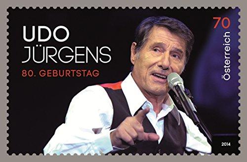 ♥ ♥ Udo Jürgens Briefmarke 0,70 € 70 cent aus Österreich 80 er Geburtstag Sondermarke 2014 gültige Frankaturware ♥ ♥