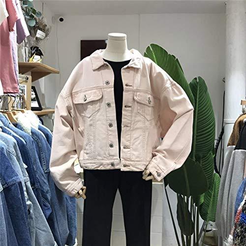 NSWTKL Gemengde jas Kleuren Jeans Jacks Revers Dames Lange mouwen Mantel Casual Vrouwen Kleding Extra size mantel