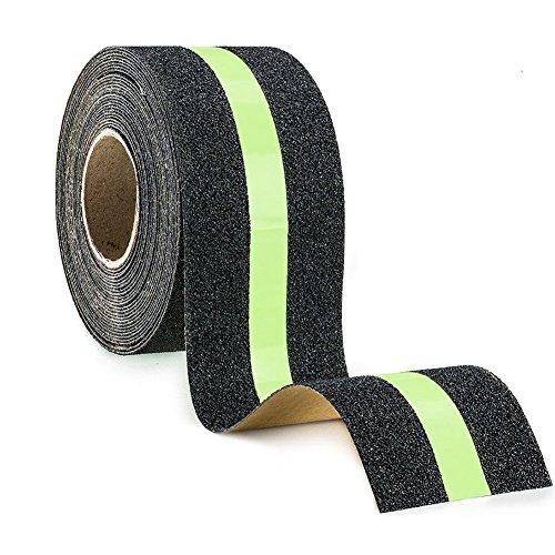 Premium-Qualität Antirutsch Klebeband, BigTron Leuchtband Streifen Wasserdichtes Selbstklebendes Anti-upturned Tape für Treppen/Schritte (5cm * 5m)