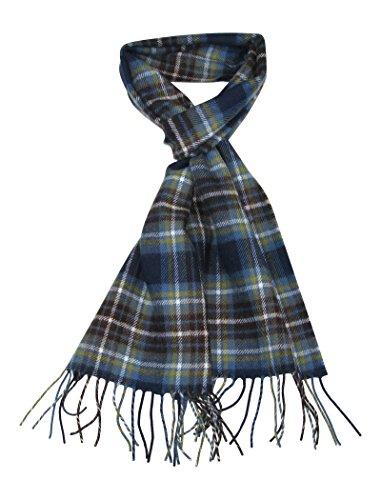 LOVARZI Blau Wolle Schal für Damen und Herren Schottenmuster Winter Schals - Herrentücher
