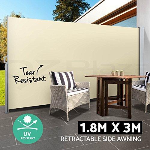 BOUDECH Tenda Laterale avvolgibile Parasole e frangivento 180x300cm con Struttura Inossidabile Interamente in Alluminio - Separè divisore frangivista