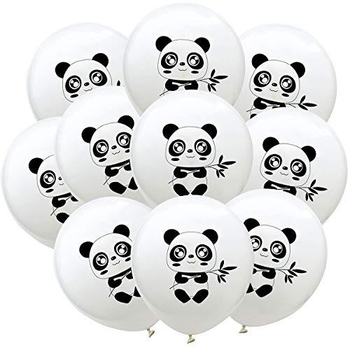 Toyvian Panda Luftballons, 12 Zoll gedruckt Latex Ballons Home Decor für Party Geburtstag, 20 Stück