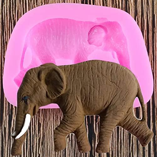 OYSJ Elefant Silikonform Tiere Kuchenform Polymer Clay Formen Süßigkeiten Schokolade Backform Cupcake Topper Kuchenform Kuchendekorationswerkzeuge