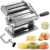 Máquina para Hacer Pasta Fresca Manual Máquina de Cortar Pasta de Acero...