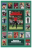 TIGER WOODS' 19 SPORTS ILLUSTRATED COVERS 13x19 COMMEMORATIVE POSTER