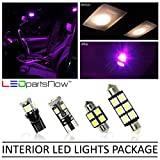 LEDpartsNow Interior LED Lights Replacement for 2003-2007 Infiniti G35 Coupe Accessories Package Kit (7 Bulbs), FUCHSIA PURPLE