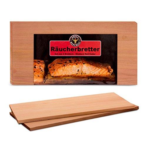 Hochwertige Räucherbretter zum Grillen für herrliches Raucharoma I Grillbretter aus reinem Zedernholz