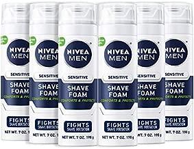 NIVEA Men Sensitive Shaving Foam - Soothes Sensitive Skin From Shave Irritation - 7 oz. Can (Pack of 6)
