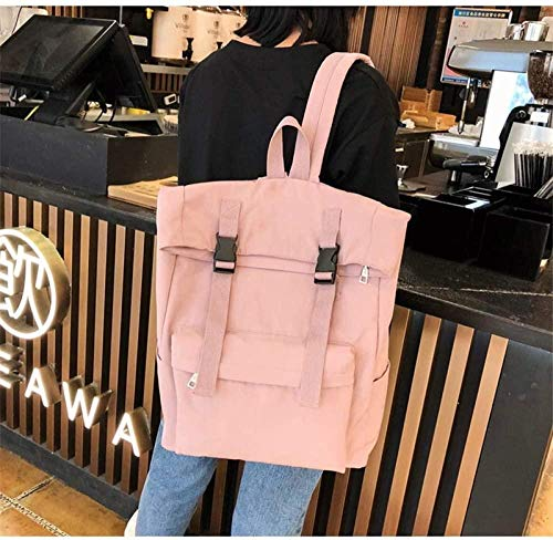 Women Backpack Version of The Wild Curled Buckle Backpack Outdoor Student Bag 30 * 15 * 41Cm
