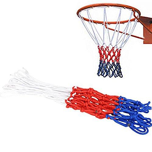 BYECHOW - Rete da basket resistente per tutte le stagioni, per qualsiasi condizione atmosferica, per canestro standard per interni ed esterni, con 12