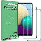 AOKUMA Cristal Templado Samsung Galaxy A02/M02, [2 Unidades] Protector Pantalla para Samsung Galaxy A02/M02 Robusto Antiarañazos Antihuellas con Borde Redondeado Dureza 9H+ Antiburbujas