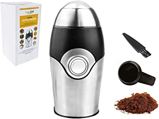 Electric Coffee Grinder Herb Grinder Spice Grinder Mini Grinder All-In-One, includes 1 oz Scoop and Cleaning Brush - 200 Watt