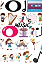 Music: 5 line music notebook 6*9 hardcover - 100 music sheet pages