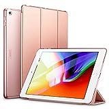ESR iPad 9.7 ケース 2018と2017年モデル 軽量 薄型 レザー 三つ折スタンド オートスリープ機能 スマートカバー 全10色 2017年と2018年発売の9.7インチ iPad 対応 ローズゴールド