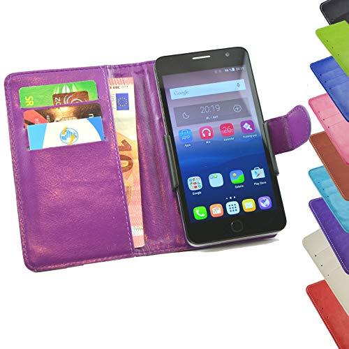 ikracase Tasche für TP-Link Neffos C5s Hülle Cover Hülle Etui Handy-Tasche Schutz-Hülle in Lila