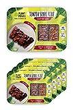 Plant Power - Tempeh; Ribz de repuesto para barbacoa adhesiva, paquete de 4