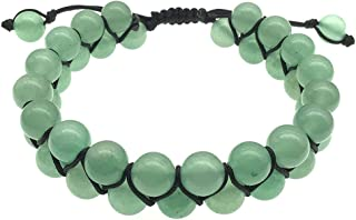 EDEN'S CALL Adjustable Crystal Stone Beads Bracelet for Men and Women 8mm Double Layers Beaded Bracelet