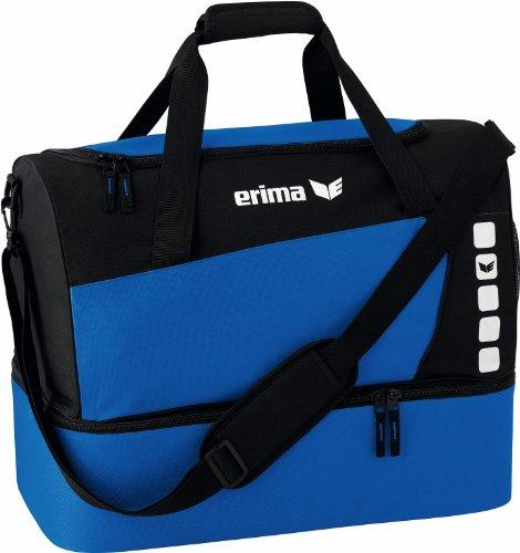 Erima Sporttasche mit Bodenfach Club 5 Line Mixte, Bleu Roi/Noir, L