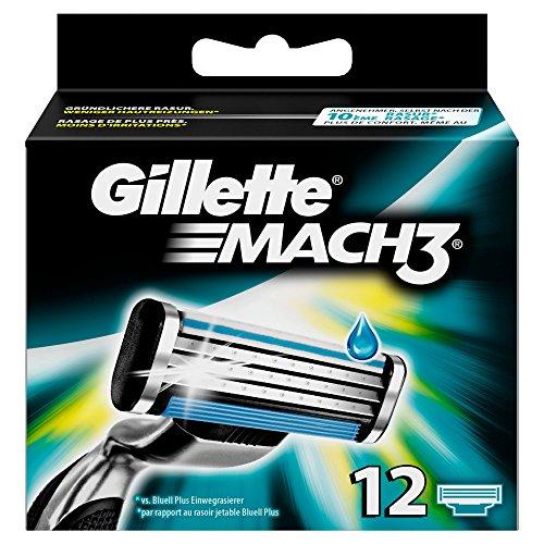 Auslaufmodell Gillette Mach3 Rasierklingen, 12 Stück