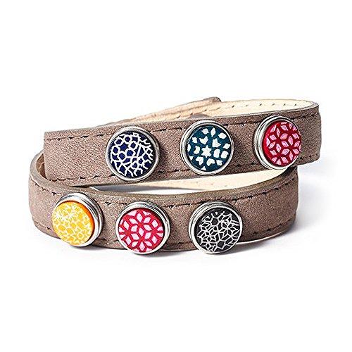 Noosa petite Armband wrap double skinny braun, Größe:M