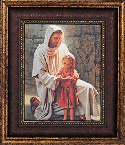 Framed Picture of Jesus Come and See by Del Parson Jesus with Little Girl