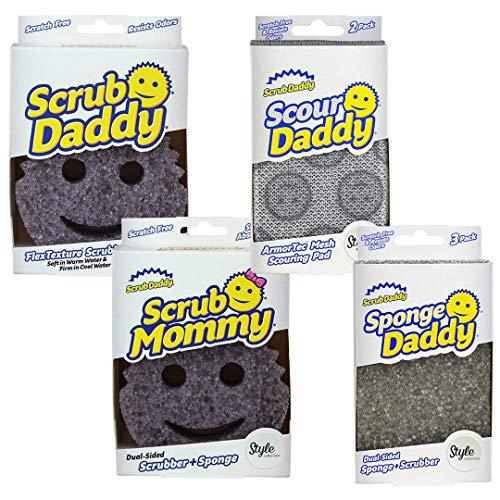 Scrub Daddy Style Collection Complete Bundle - Scour, Sponge + Scrub Mommy + Scrub Daddy