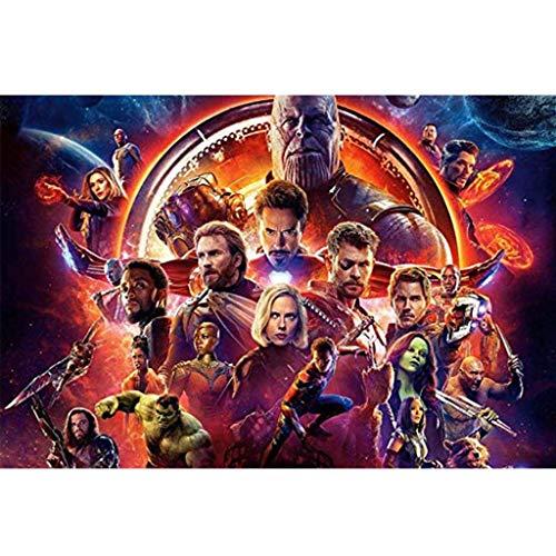 ⏰ La película Avengers Iron Man cartel, de madera rompecabezas, juguetes de descompresión, tilo corte perfecto y apto, 300/1000 pintura Piezas en caja Fotografía Juguetes Arte del juego for adultos y