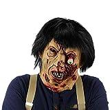 TongNS1 Verwesender Zombie Maske,Horror Maske,Halloween Maske Sinister Die Horror Maske Latex Zombie Zum Gruseln Für Männer und Frauen Kostüm Zubehör,Karneval Halloween Party...