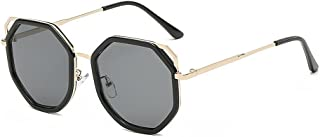 822a8409257 Yxsd Classic Men Women Hexagon Square Sunglasses Metal Eyewear Fashion  Shades Outdoor (Color   Black
