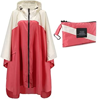 JTIH Impermeable para Mujer Impermeable Impermeable Capa la Moda Ropa Impermeable para la Lluvia Poncho para