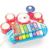 CubicFun 5 in 1 Kids Piano Drum Set Baby Toys 6 to 12-18 Months Baby Einstein Toddler Girl Boy Toys...