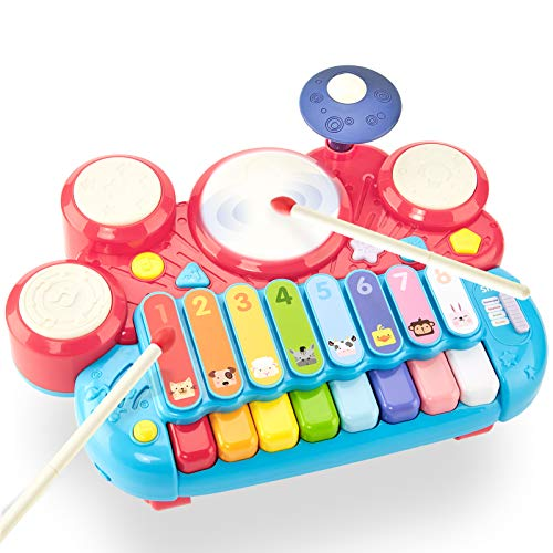 CubicFun 5 in 1 Baby Musical Instruments Toddler Toys for 1 Year Old Girls, Multi-Function Piano...