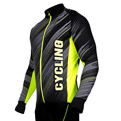 STANTEKS SR0038 - Maillot de ciclismo de manga larga para hombre y...