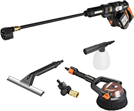WORX WG644 40V Power Share Hydroshot Portable Power Cleaner (2x20V Batteries) with Hydroshot Deluxe Cleaning Accessory Kit...