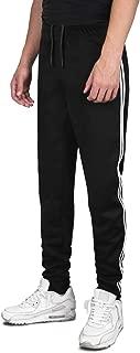 DISHANG Men's Joggers Track Pants 2 Stripes Athletic Running Jogging Bottoms Multi Pockets Slim Fit Sweatpants