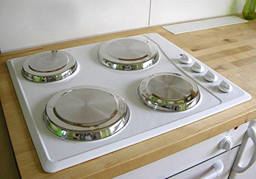 Herdabdeckplatten aus Edelstahl Herdabdeckung Plattenschutz 4tlg. (009)