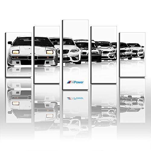 Lienzo impreso M1 E26 M2 M235i AC M3 GTR E46 M4 Gt4 M5 Sports Cars M6 Power M8 GTE Decoración de pared (tamaño 4 sin marco (sin estirar))