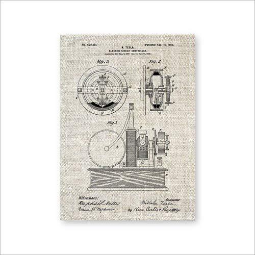 Circuit Controller Wandkunst Poster Raumdekoration Vintage Blueprint Leinwand Malerei Geschenk A4 21x30cm