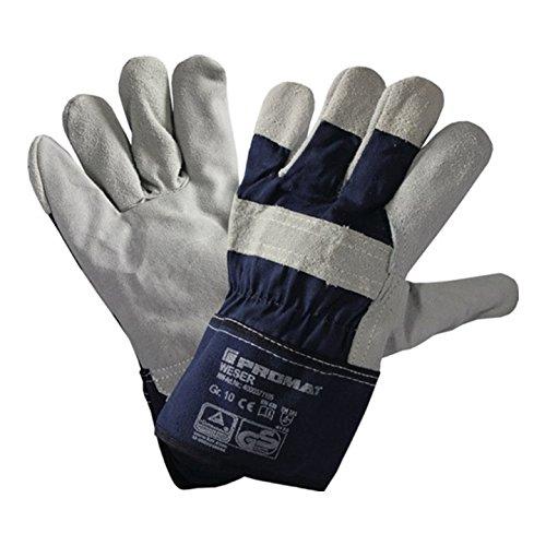 Safeline Promat Handschuhe Weser Gr.10 Rindspaltleder SAFELINE PROMAT Stulpe gummiert