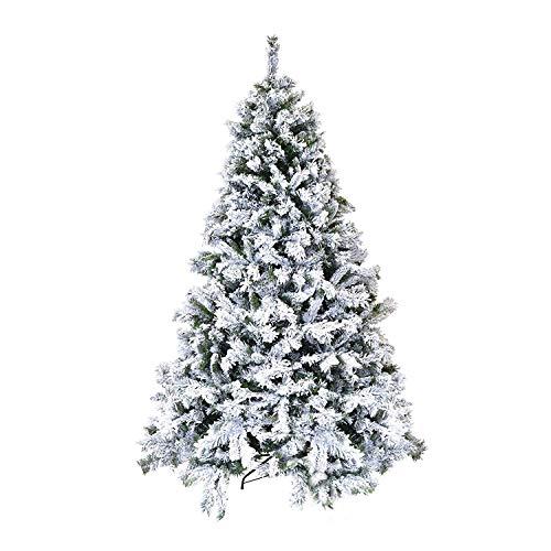 XONE Albero di Natale Innevato 180cm Super Folto e Realistico | Pino Altissima qualità con Neve Ottima resa