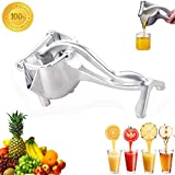 Premium Stainless Steel Manual Juicer, Healthy Alloy Fruit Hand Squeezer, Easy Use Heavy Duty Lemon Orange Juicer Manual Fruit Press Squeezer Fruit Juicer Extractor Tool