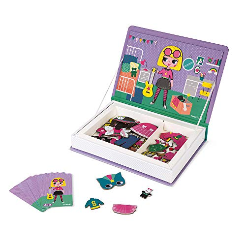 Janod J02718 Magneti'Book Costumes Educational Game, Girls