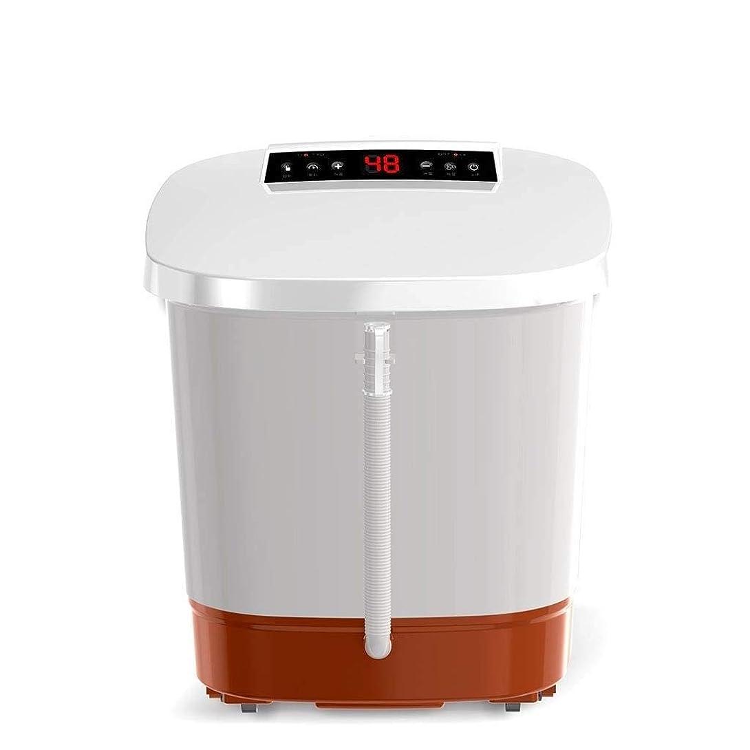 処方干ばつ温度SFSWQS 足浴槽自動3dマッサージ暖房家庭用洗面台電気マッサージ暖房泡盆地タイミング深いバレル
