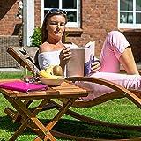 Relax Schaukelstuhl Rio, Relaxliege mit Armlehnen, Gartenmöbel aus vorbehandeltem Holz - 9