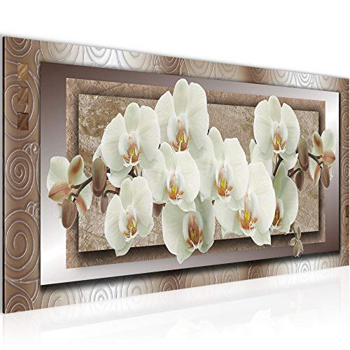 Wandbilder Blumen Orchidee Modern Vlies Leinwand Wohnzimmer Flur Abstrakt Beige Braun 205412c