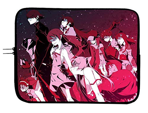 Koyomimonogatari Anime Laptop Sleeve Bag w/Mousepad Surface - Fits 15 Inch Notebook Anime Computer Bag All Laptops & Tablets