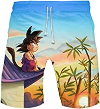 Abluewhale Mens Dragon Ball Son-Goku Board Beach Shorts Anime Fast Dry Swim Trunks with Pockets